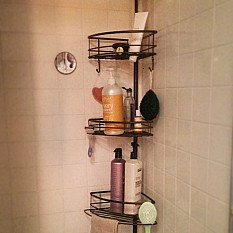 oversized 3tier pole shower caddy