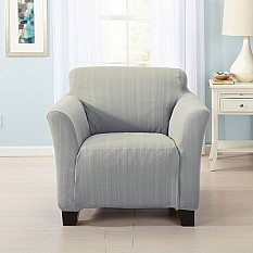 great bay home darla strapless cable knit chair slipcover - Slip Covers For Chairs