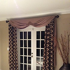 Stone Floor Double Shower Curtain How To Sew A Victory Valance Swag